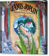 Janis Joplin In Concert Mural Canvas Print