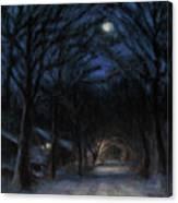 January Moon Canvas Print