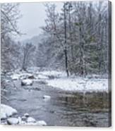 January Snow On The River Canvas Print