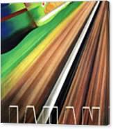 Japan, Japanese Railways, Travel Poster Canvas Print