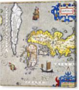 Japan: Map, 1606 Canvas Print