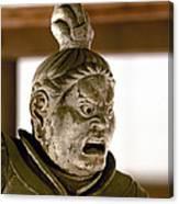 Japan: Warrior Statue Canvas Print