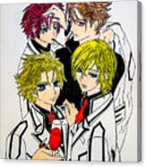 Japanese Anime Characters. Canvas Print