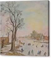 Japanese Art And Semblance Of Aert Van Der Neer Canvas Print