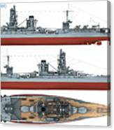Japanese Battleship Ise Canvas Print