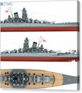 Japanese Battleship Yamato Canvas Print
