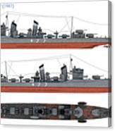 Japanese Destroyer Fubuki Canvas Print