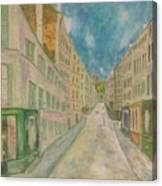 Japanese Eyes And Utrillo Canvas Print