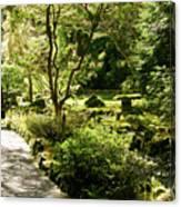 Japanese Garden At Butchart Gardens In Spring Canvas Print