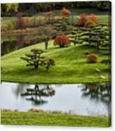 Japanese Garden Autumn Canvas Print