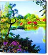 Japanese Garden In Spring Canvas Print