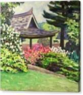 Japanese Garden-spring Blossoms Canvas Print