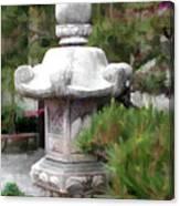Japanese Garden Stone Lantern Statue Canvas Print