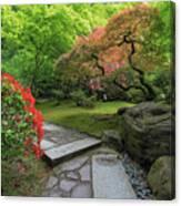 Japanese Garden Strolling Stone Path Canvas Print