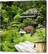 Japanese Garden Teahouse Canvas Print