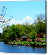 Japanese Gardens In Spring Canvas Print