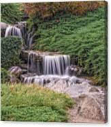 Japanese Gardens Waterfall Canvas Print