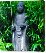 Japanese House Monk Statue Canvas Print