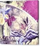 Japanese Iris - Kimono Series Canvas Print