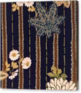 Japanese Maple And Chrysanthemum Modern Interior Art Painting. Canvas Print