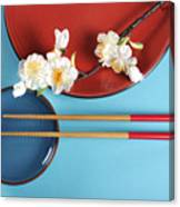 Japanese Oriental Place Setting Canvas Print