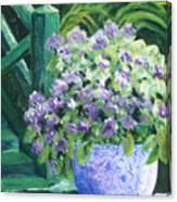 Japanese Pot At Monets Home Canvas Print