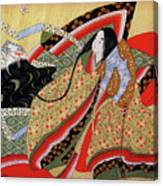 Japanese Textile Art Canvas Print