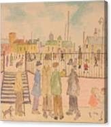 Japanese Whispers In Respect Of Lowry Canvas Print