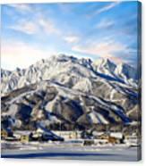 Japanese Winter Resort Canvas Print
