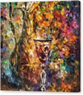 Jar Of Wine Canvas Print
