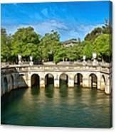 Jardins De La Fontaine Nimes Canvas Print