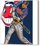 Jason Kipnis Cleveland Indians Oil Art Canvas Print