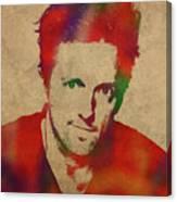 Jason Mraz Watercolor Portrait Canvas Print