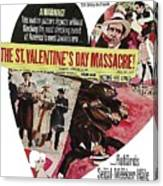 Jason Robards As Al Capone Theatrical Poster The St. Valentines Day Massacre 1967  Canvas Print