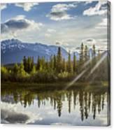 Jasper Glory Rocky Mountain View Canvas Print