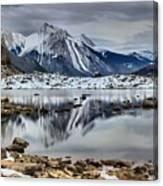 Jasper Medicine Lake Reflections Canvas Print