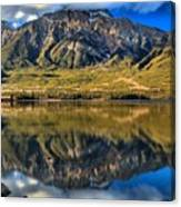 Jasper Pyramid Lake Reflections Canvas Print
