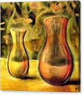 Jaune Et Magenta Canvas Print