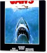 Jaws Movie Poster - 1975 Canvas Print