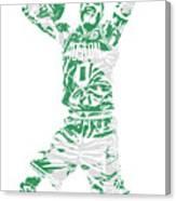 Jayson Tatum Boston Celtics Pixel Art 11 Canvas Print