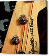 Jazz Bass Headstock Canvas Print