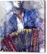 Jazz Concertina player Canvas Print
