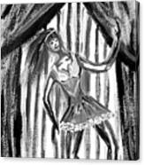 Jazz Dancer In Black  And White Canvas Print