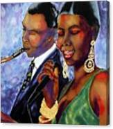 Jazz Duet Canvas Print