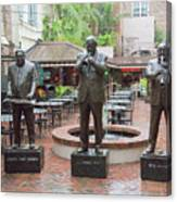 Jazz Greats Al Hirt Fats Domino Pete Fountain Stature New Orleans  Canvas Print