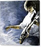 Jazz Guitarist Last Accord Canvas Print