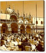 Jazz In Piazza San Marco Canvas Print
