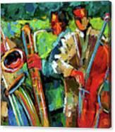 Jazz In The Garden Canvas Print