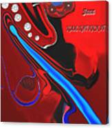 Jazz Kool Kat Kick It Canvas Print