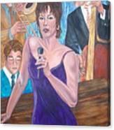 Jazz Lady Canvas Print